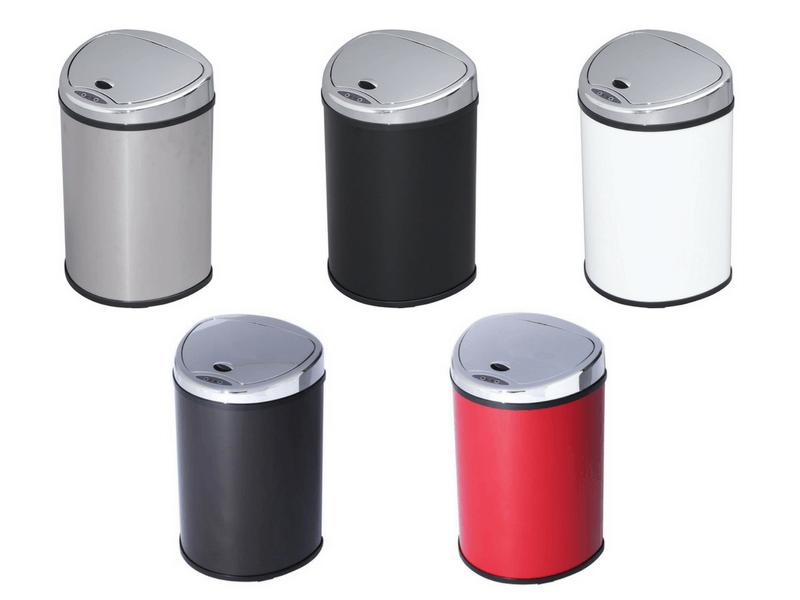丸形タイプのセンサー付きゴミ箱