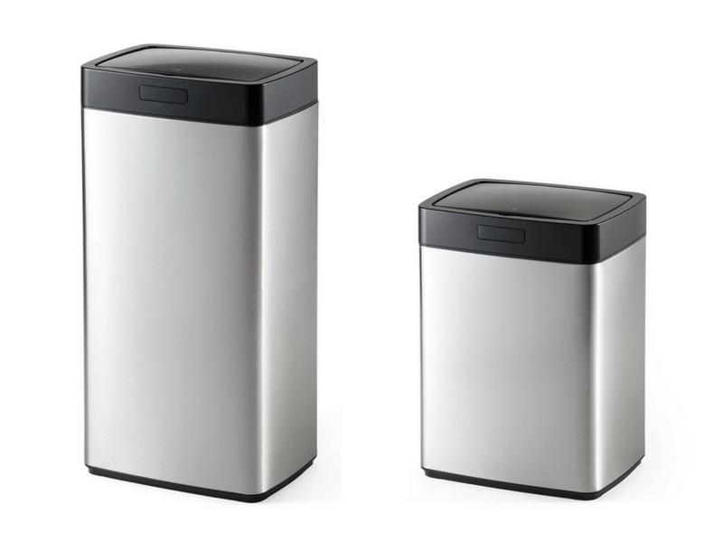 開口部が広いセンサー付きゴミ箱
