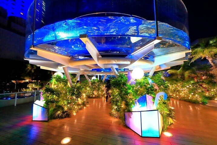 サンシャイン水族館のライトアップ