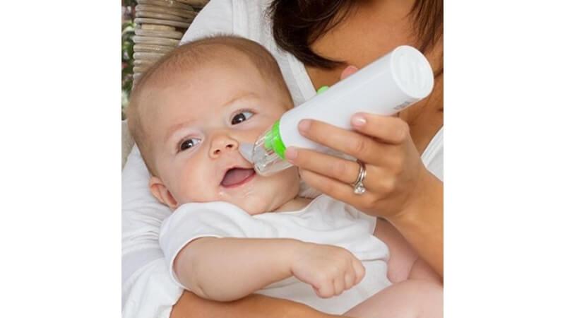 電動持ち運びタイプの鼻水吸引器