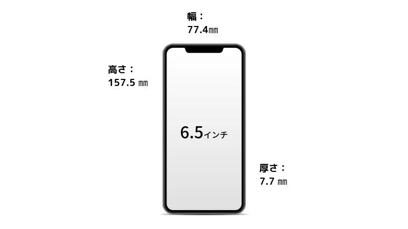 iPhoneXSMAXの大きさ