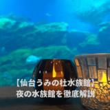 仙台うみの杜水族館の夜の水族館