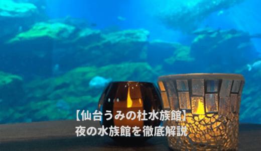 仙台うみの杜水族館の「夜の水族館2019」を徹底解説!ナイトショーはいつから?夜間営業の時間は?料金や割引情報を紹介する!