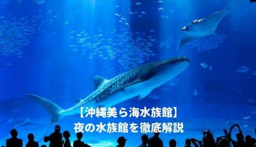 沖縄美ら海水族館の「夜の水族館2020」を徹底解説!ナイトショーはいつから?夜間営業の時間は?料金や割引情報を紹介する!