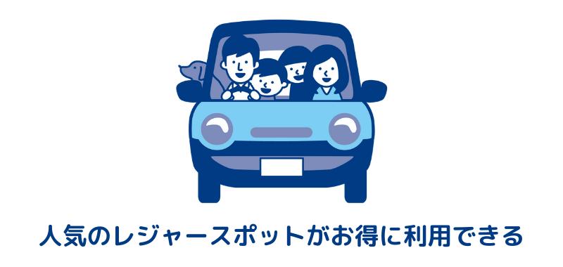 車に乗る家族のイラスト