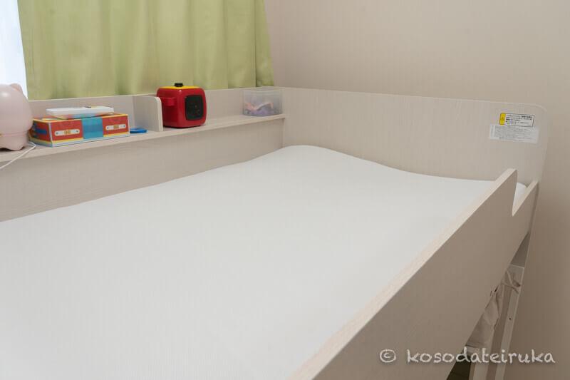 ベッドに置いたエアーウィーブ