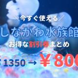 【2021年最新】しながわ水族館は割引券がいっぱい!クーポン・前売り券・優待券を使って入場料金を安くする方法