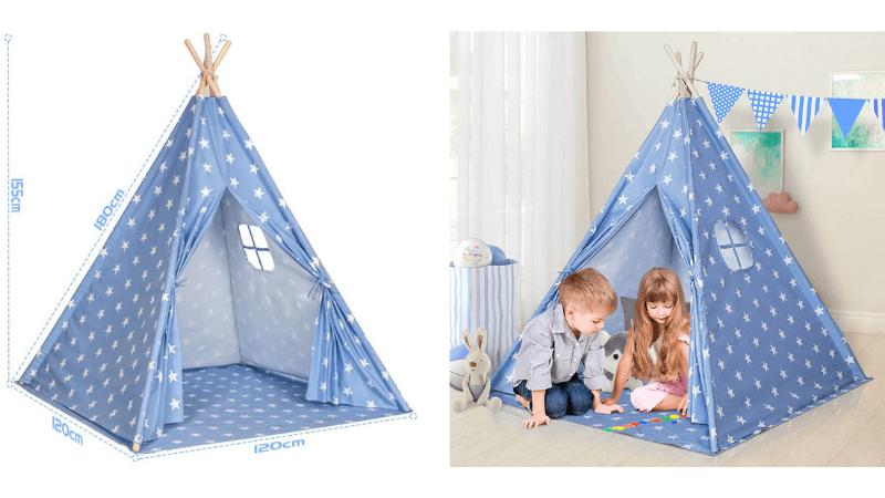 子供用室内テントの大きさ