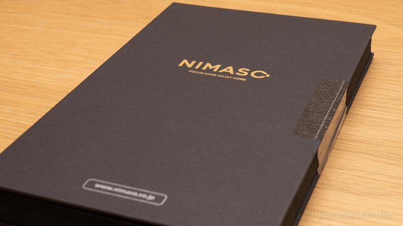NIMASOのガラスフィルムの外箱