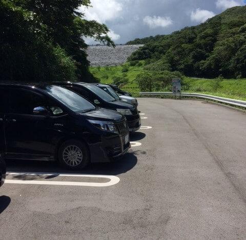 羽地大川の駐車場