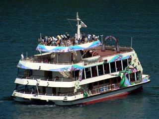 箱根園水族館の遊覧船