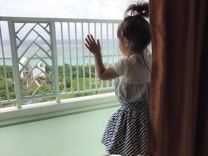 石垣島ANAインターコンチネンタルのベランダ