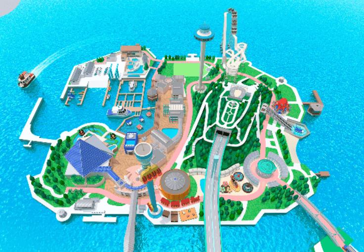 横浜八景島シーパラダイスの島内地図