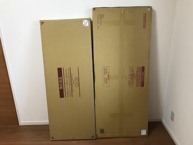 無印良品のデスクの箱