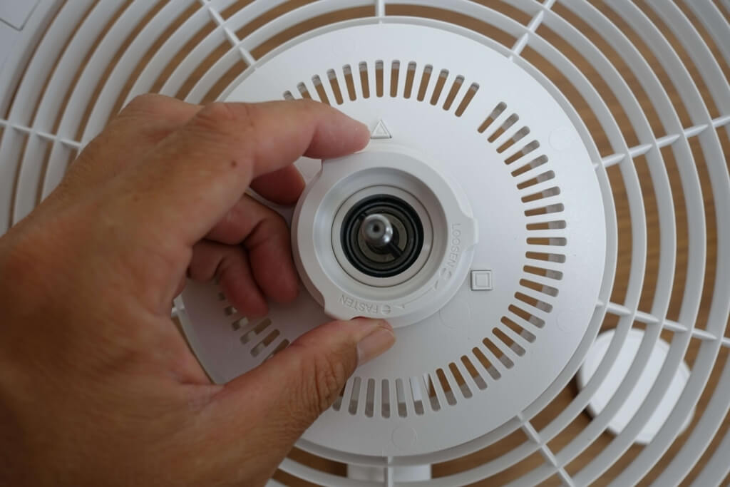 バルミューダの扇風機のヘッド