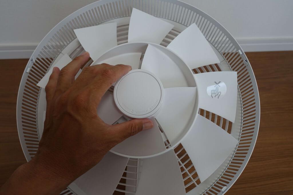 バルミューダの扇風機のプロペラ