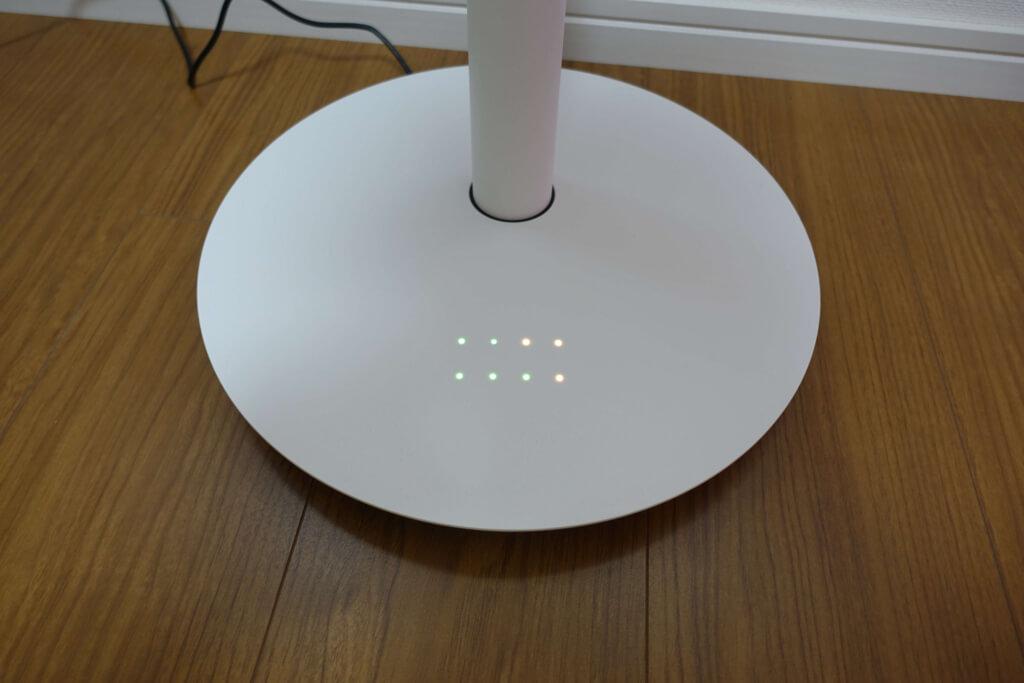 バルミューダの扇風機の点灯するボタン類