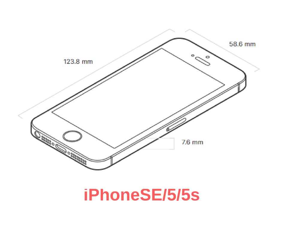iPhoneSEの大きさ